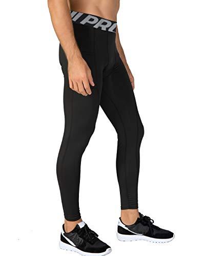 LNJLVI Men's Compression Leggings Base Layer Running Tights Sport Fitness Pants