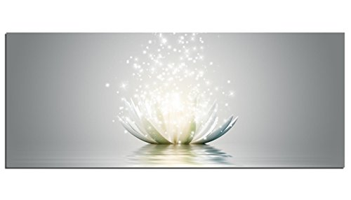 Glasbilder Wandbild AG312502078 Magic Lotus Blume 125 x 50cm / Deco Glass, Design & Handmade/Eyecatcher, Kunstdruck!