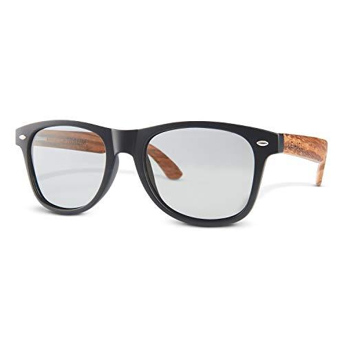 LEMIEL® Xavier - Gafas de sol ecológicas - Las mejores gafas de sol retro de madera de Alemania - Polarizadas - UV400 - Hombres y Mujeres - Funda de Bambú - Compra Uno.