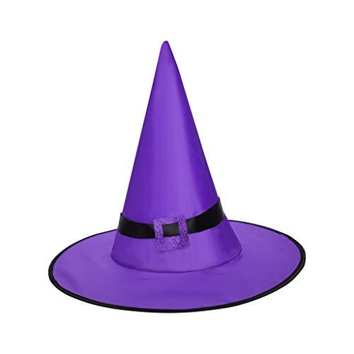 Writtian Halloween Cosplay Sombrero de bruja iluminado para fiesta de...