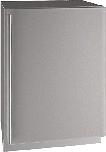 U-Line UHRE524SS01A 5 Class Series 24 Inch Compact Refrigerator, Right Hinge with Reversible Doors, Energy Star Certified, Stainless Steel