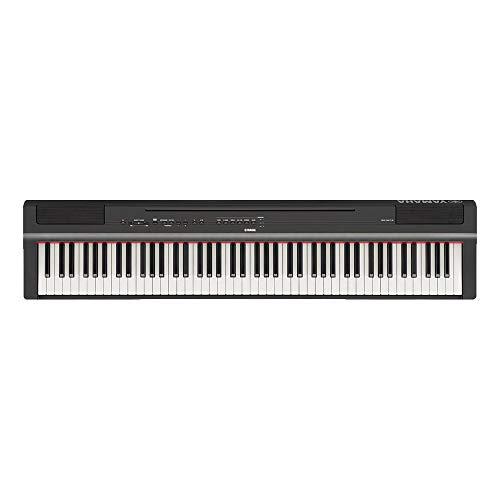 Piano Digital Compacto com Fonte, Yamaha, P125B, Preto