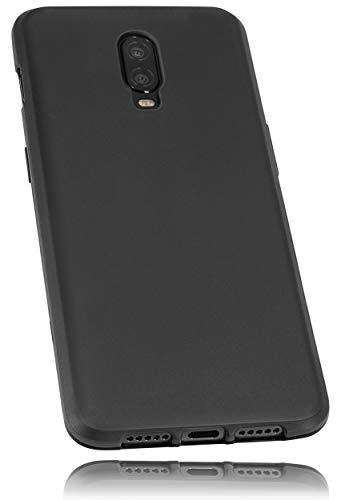 mumbi Hülle kompatibel mit OnePlus 6T Handy Hülle Handyhülle, schwarz