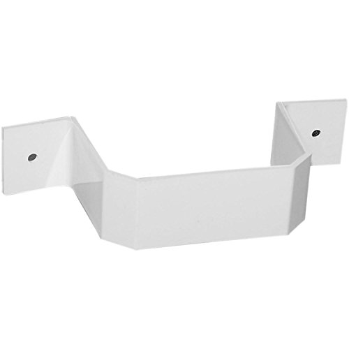 Genova Building Products Repla K AW202 2' x 3' White Downspout Bracket