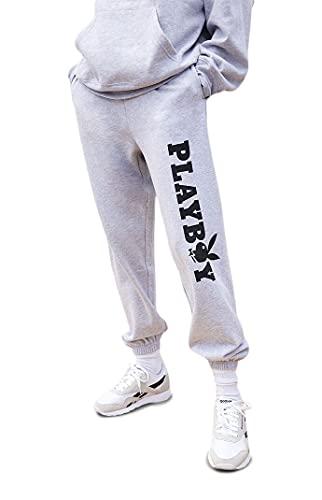 PacSun Playboy Women's Basic Boyfriend Sweatpants - Gray Size Large