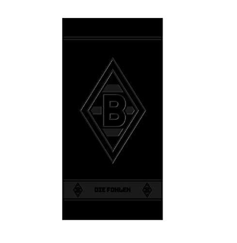 Borussia Mönchengladbach Embossed Handtuch Duschtuch Badetuch (Handtuch 50x100cm, schwarz)