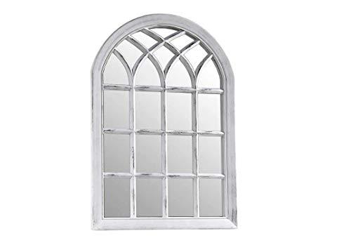 GICOS IMPORT EXPORT SRL Specchio in plastica Ovale Arco 51 * 3 * 71 cm da Parete Terra Bianco Shabby Chic CJH-774843