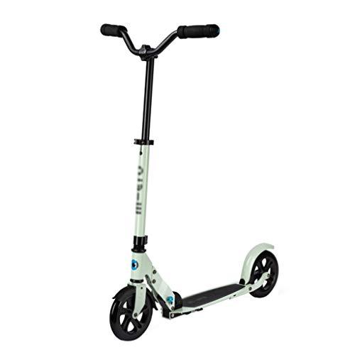 LICHUAN Scooter Scooter Big Wheel Scooter plegable de 2 ruedas con puños de freno estilo bicicleta cubierta de aleación ligera para jóvenes y adultos Freestyle Kick Scooter Kick Scooter (Color: A)
