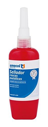 Unecol 8637 Sellador para roscas metálicas (tubo flexible), Amarillo, 50 ml