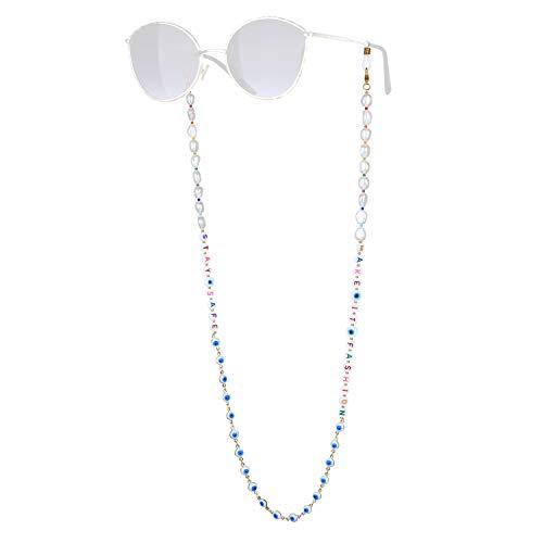KANYEE Retenue De Lunettes De Perle Lettres Mixte Perles Chaînes De Lunettes Bon Design Colliers De Lunettes -19B