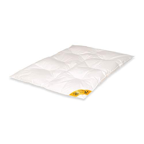 Traumschloss Baby Duo Kinder Daunenbett Karo-Step Bettdecke Weiß 100 x 135 cm