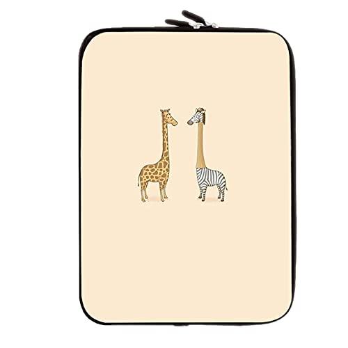 Desconocido Silicio Suave Compatible con 10Inch Computer Table Bag Tener Playful Giraffe Mujeres