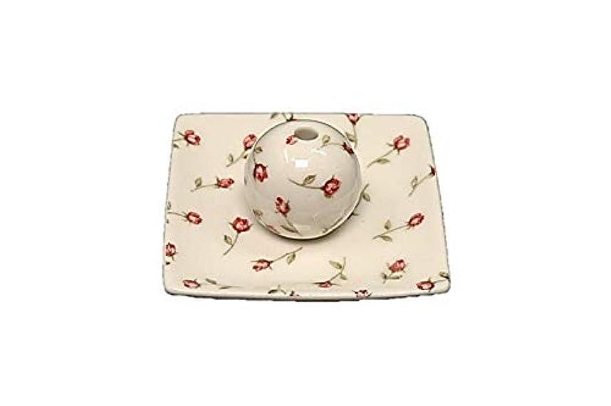 欠伸習慣皿ローズガーデン 小角皿 お香立て 陶器 製造 直売品