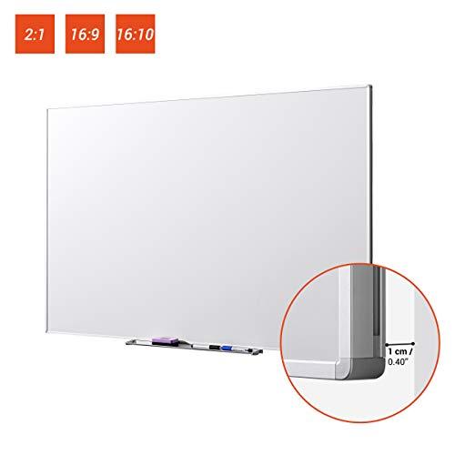 celexon Whiteboard Projektions-Schreibtafel Professional - 240 x 120 cm - 106'' - 2:1 - universell einsetzbar - inkl. 2 Stiften und Ablage