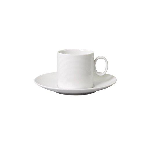 Thomas Loft Kaffeetasse mit Untertasse, Porzellan, Weiß, Spülmaschinenfest, 210 ml, 2-tlg., 14740