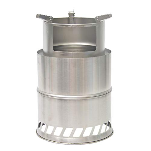 Camping Stove Lightweight Wood Stove Alcohol Stove for Portable Outdoor Camping Cooking Picnic BBQ Silver 20 * 31cm