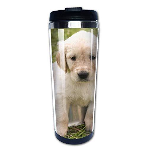 Cachorro Golden Retriever Perro Mascota joven Taza de viaje de café Tazas de café Tazas de café con tapas Taza de aislamiento de acero inoxidable personalizada