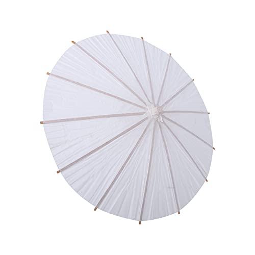 Alvinlite Paraguas de Papel Blanco Blanco DIY Pintura decoración Paraguas sombrilla Boda decoración de Fiesta Nupcial(Blanco1)