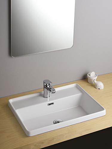 Leonardo Bagno Dandy Waschbecken Bad rechteckig Einbaugröße 56_x_43_cm