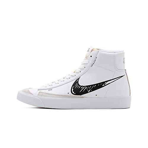 Nike Herren Blazer Mid VNTG '77 Basketballschuh, White/Black-Platinum Tint, 41 EU