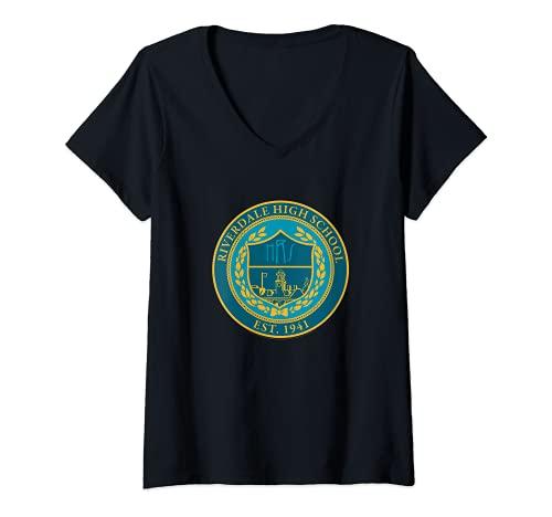Femme Riverdale High School T-Shirt avec Col en V