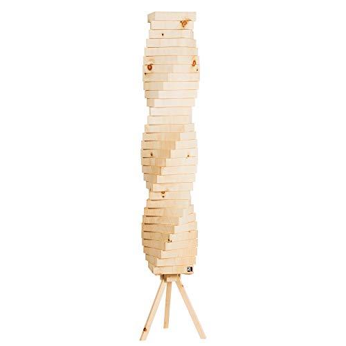 ZirbenLüfter ® LAMP heilix3 | Stimmungslampe | Stehleuchte aus Zirbenholz | DESIGN und HANDWERK aus Österreich | LED - dimmbar - Fernbedienung | h=120 cm |robust |