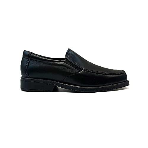 ZAPATISIMOS - Zapatos para Hombre de Piel,Clasico, Cierre el