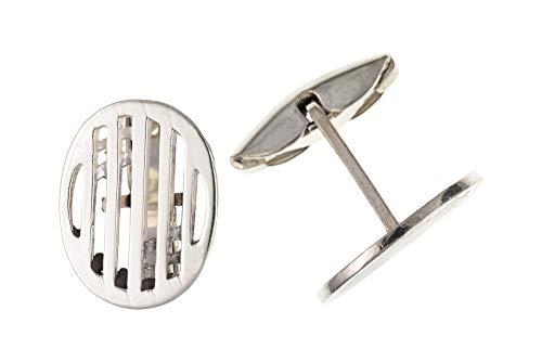 Sterling Silver Mackintosh style ovale Boutons de manchette
