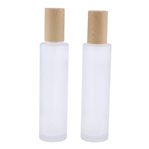 Fenteer 2pcs Portable Bouteilles de Vaporisateur de Parfum Vide Conteneurs de Lotion pour Voyage Avion - 120 ml