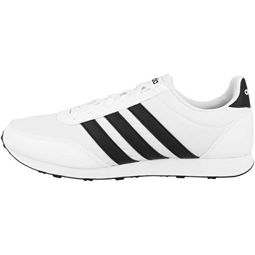 Adidas V Racer 2.0, Zapatillas de Deporte para Hombre, Blanco (Ftwbla/Negbás/Negbás 000), 42 2/3 EU
