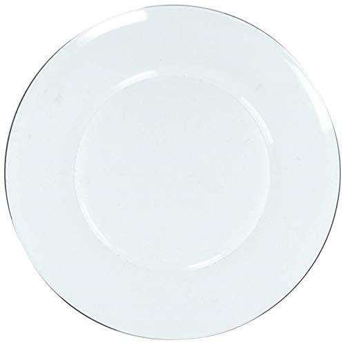 Duralex - Assiette Plate 23,5cm Lys Transparent - Lot de 6
