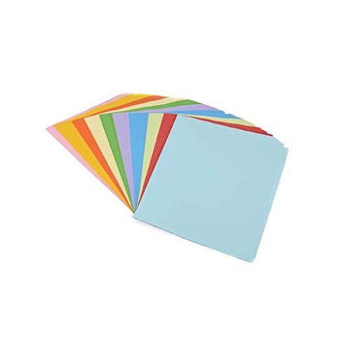Chowceng 100pcs Multicolor Color sólido Origami de Papel Cuadrado Plegable del Arte Hecho a Mano DIY Papeles de Scrapbooking Tarjetas de Regalo de la decoración del Arte