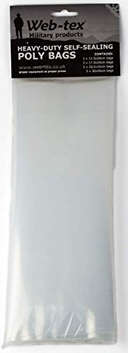Web-tex - Kunststoffbeutel - strapazierfähig & wiederverschließbar - 12 Stück