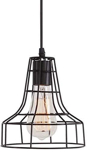 ZHLFDC Retro industrial del viento de la lámpara, alambre de la jaula de la lámpara, la lámpara decorativa for comedor, pasillo, salón, etc. E27 Fuente de luz