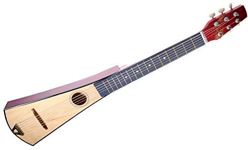 Shop4Omni Steel String Backpacker Travel Guitar with Bag (Natural)