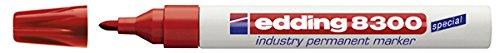 edding Permanentmarker edding 8300 industry, 1,5-3 mm, rot
