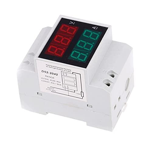 Tree-es-Life D52-2042 LED Digital multifunción medidor voltímetro amperímetro amperímetro voltímetro Estable y Duradero de Alta precisión AC200-450V Blanco