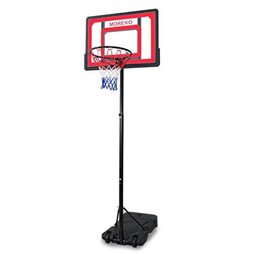 Aro de baloncesto portátil ajustable en altura junto a la piscina de baloncesto soporte del sistema para la juventud niños adolescentes al aire libre de interior con 32,6 pulgadas de ancho PVC Tablero