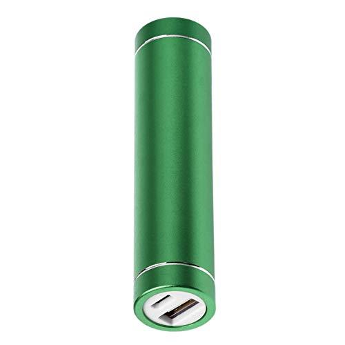 CVBN Carcasa de batería de Banco de energía de Cilindro Multicolor 1x18650 con Puerto de Carga USB, Verde