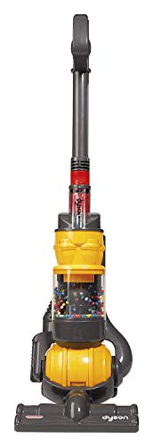 Casdon - Dyson Ball Vacuum TOY VACUUM with working suction and sounds, 2 lbs, Grey/Yellow/Multicolor