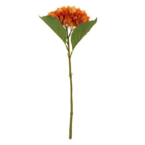 Noblik 1Pcs Fotografía 46Cm Flores Artificiales Flores de Hortensia Decoraciones para El Hogar para Bodas Naranja