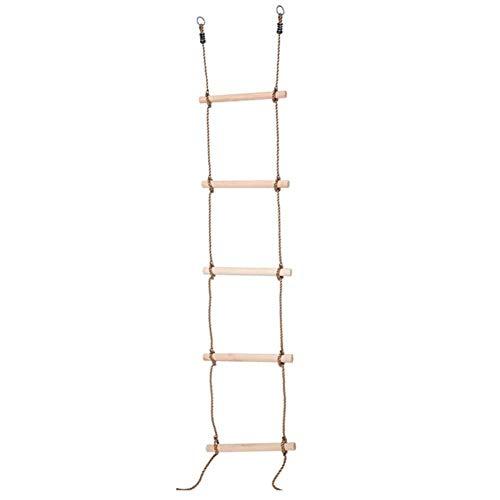Luminiu Kletternetz für Spiele im Freien für Kinder, Klettergerüst, Strickleiter, Kletterleiter, Kletterleiter, Holzleiter