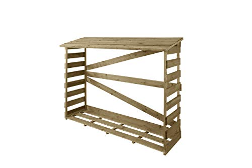 Slatted Log Store, Large