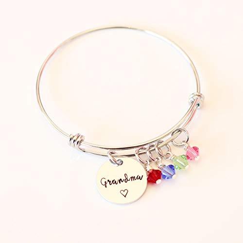 Grandma Birthstone Bracelet, Personalized Grandma Gift, Grandmother Jewelry, Gift From Grandkids