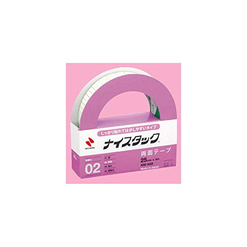 両面テープ ナイスタック 25mm幅×9m巻 しっかり貼れてはがせるタイプ 店