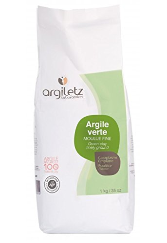 Argiletz Finely Ground Green Powder Clay 1kg by Argiletz
