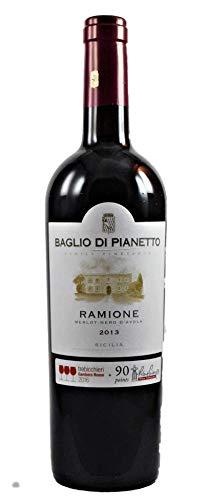 Ramione Sicilia DOC Merlot - Nero d´Avola tr. 2013, Baglio di Pianetto (3 Gläser Gambero Rosso), trockener Rotwein aus Sizilien