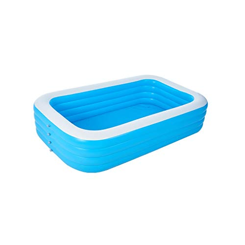 FVIEW Piscina Inflable Impermeable Espesado Plegable de Gran tamaño Piscina Cubierta Cubo Exterior del hogar Aptos for Adultos de los niños (Color : 4 Layers B 150 x 210 x 72cm)