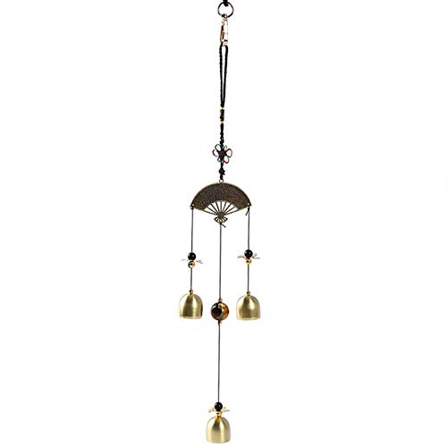 Coner Fan Wind Chime Windbell Eolische Klokken Koper Windbel Tuin Home Decor Metalen Windgong Opknoping decoratie Ornament, als foto
