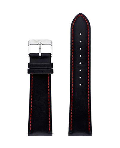 Correa de Piel Italiana de la Marca Watx. Modelo Leather Race/Black&Red / 44mm. Referencia WXCO1723.